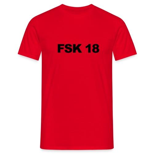 FSK 18 rot/schwarz - Männer T-Shirt