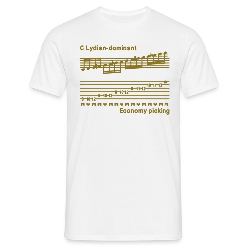 Economy picking - Guys - Metallic gold design - Men's T-Shirt