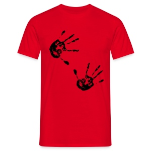 Retro T Shirt With Hand Prints - Men's T-Shirt