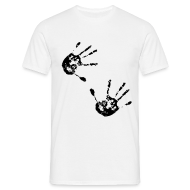 T-Shirts ~ Men's T-Shirt ~ Retro T Shirt With Hand Prints