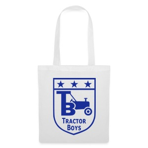 Tractor Boys Shopping Bag (White) - Tote Bag
