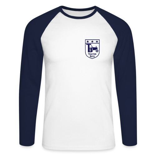 Tractor Boys (Blue/Navy) - Men's Long Sleeve Baseball T-Shirt