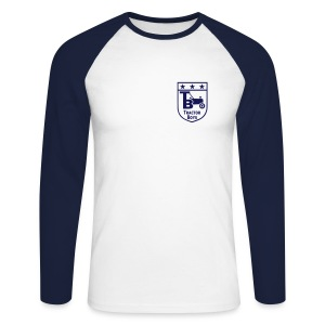 Tractor Boys (White/Navy) - Men's Long Sleeve Baseball T-Shirt