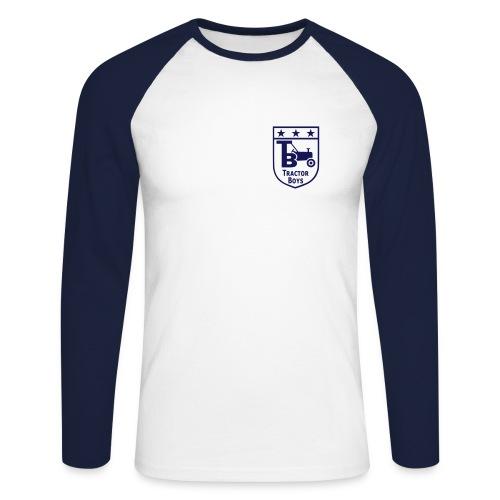 Tractor Boys (White/Navy) - Men's Long Sleeve Baseball T-Shirt