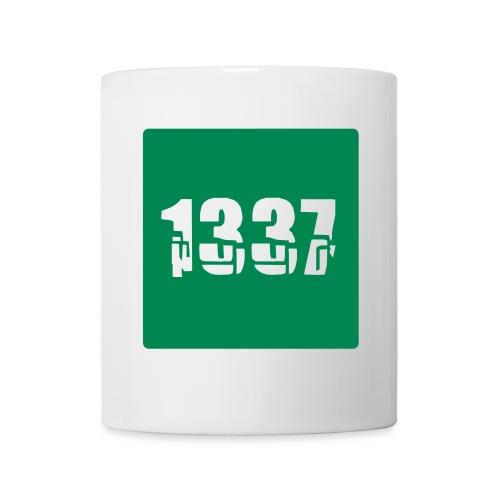 Green 1337 Square - Mug