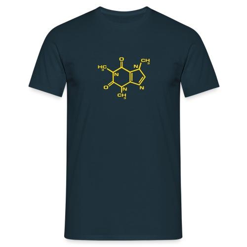 Caffeine : Gold on Navy - Men's T-Shirt