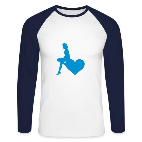 idéal pour la nuit - T-shirt baseball manches longues Homme