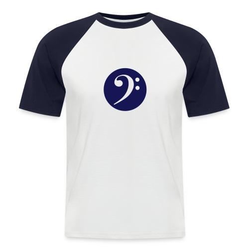 F-Clef Raglan kurzarm blau - Männer Baseball-T-Shirt
