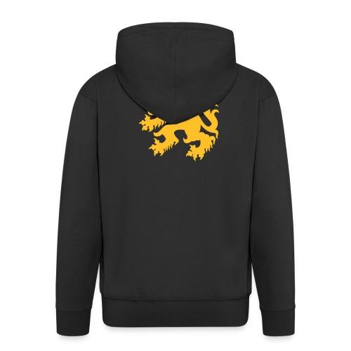 HEREN capuchontrui  met vlaamse leeuw - Mannenjack Premium met capuchon