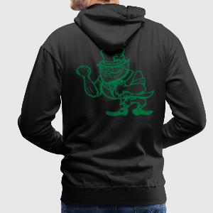 Black Fighting Irish Man Men's Longsleeves - Men's Premium Hoodie
