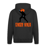 Hoodies & Sweatshirts ~ Men's Premium Hooded Jacket ~ Ginger Ninja Hoodie