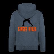 Hoodies & Sweatshirts ~ Men's Premium Hooded Jacket ~ Ginger Ninja Hoodie