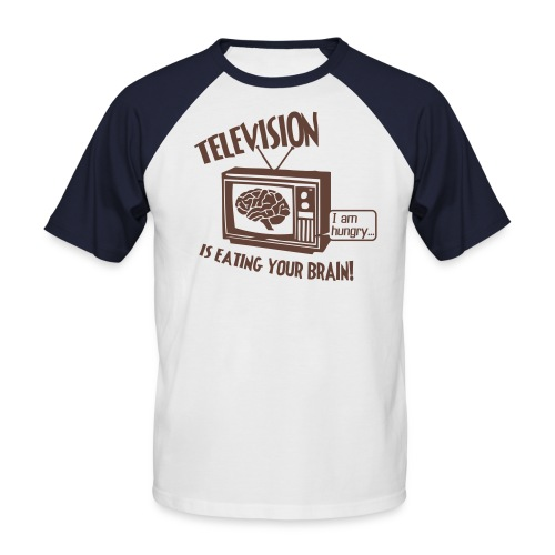 Television Fanatic Top - Men's Baseball T-Shirt