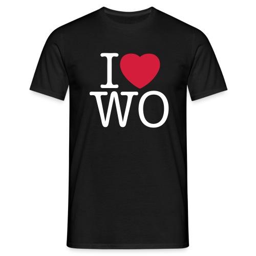 I love WO Classic Tee_black - Männer T-Shirt