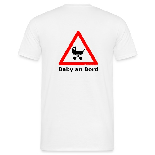 Eltern T-Shirt Baby an Bord - früher 17,90 € - Männer T-Shirt