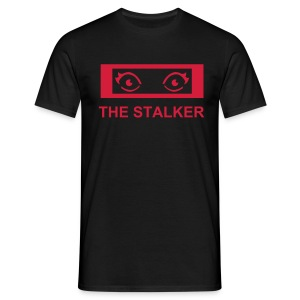 The Stalker - black shirt red logo - Männer T-Shirt