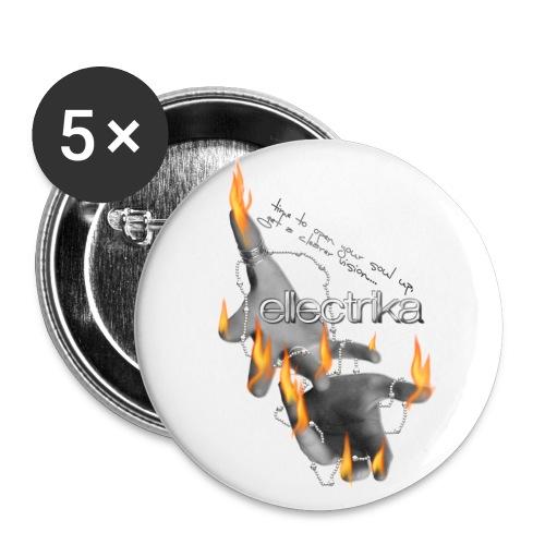 Badges (x5) Ellectrika hand-fire - Badge grand 56 mm