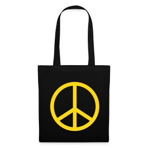 Peace (Black Shopping Bag) - Tote Bag