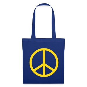 Peace (Blue Shopping Bag) - Tote Bag