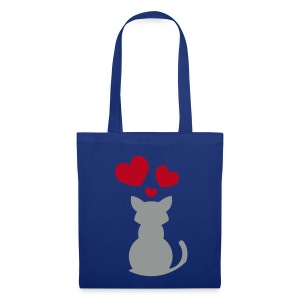 Kitten Hearts (Blue Shopping Bag) - Tote Bag