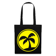 Bags & Backpacks ~ Tote Bag ~ Tropical Island (Black Shopping Bag)