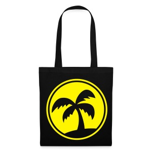 Tropical Island (Black Shopping Bag) - Tote Bag