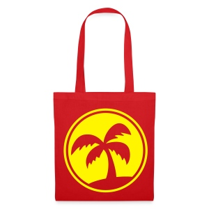 Tropical Island (Red Shopping Bag) - Tote Bag