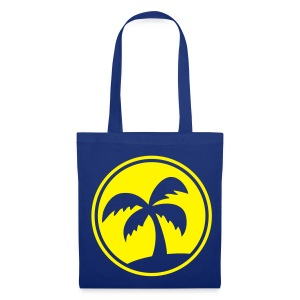 Tropical Island (Blue Shopping Bag) - Tote Bag