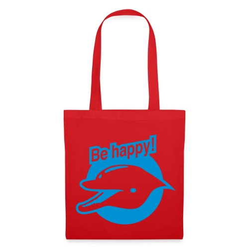 Smiling Dolphin (Red Shopping Bag) - Tote Bag