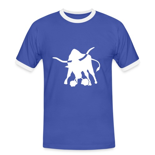 101 angrybull - Männer Kontrast-T-Shirt
