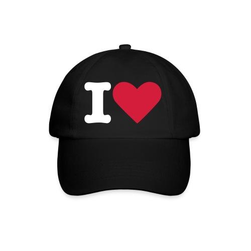 [Casquette] I Love ... Noire - Casquette classique