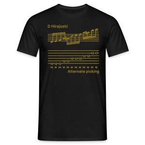 Alternate picking - Guys - Metallic gold design - With I'M A SPEED DEMON text on back - Men's T-Shirt