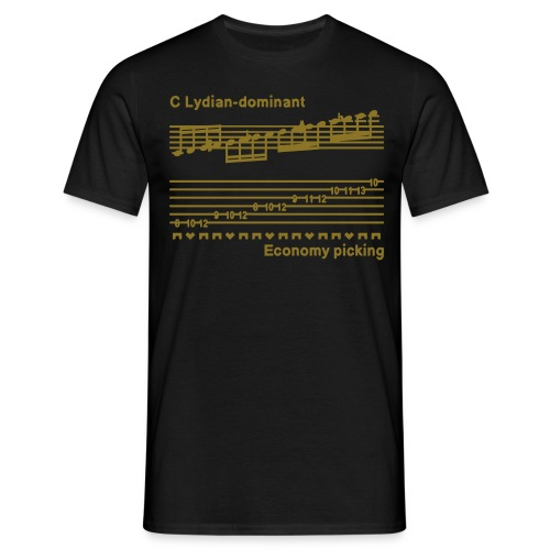 Economy picking - Guys - Metallic gold design - With I'M A SPEED DEMON text on back - Men's T-Shirt