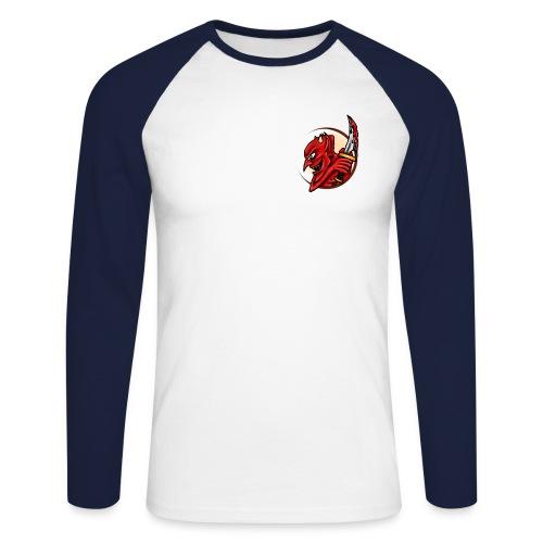 The Mark of the Devil. L/S - Men's Long Sleeve Baseball T-Shirt