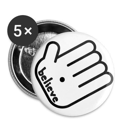 believe button - Buttons klein 25 mm