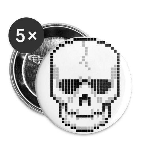 Pixelskull - Buttons groß 56 mm