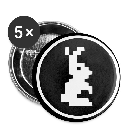 Pixelbunny - Buttons klein 25 mm (5er Pack)