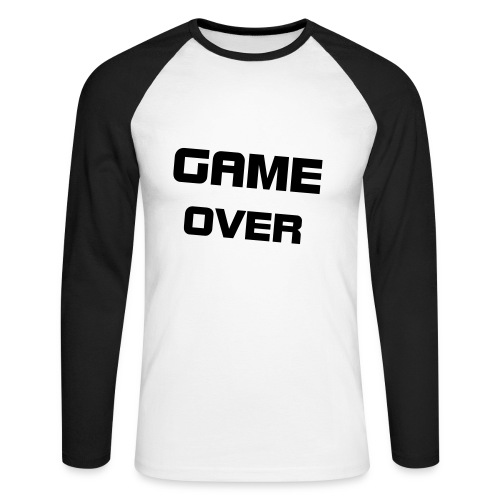 Game over - T-shirt baseball manches longues Homme