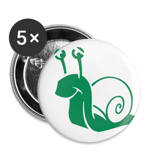 Pack of 5 Snail Badges - Buttons large 56 mm