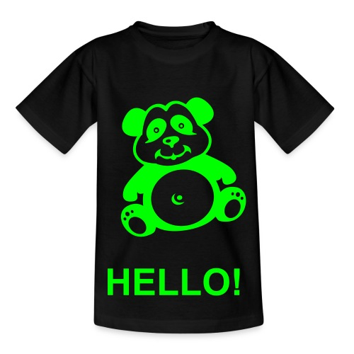 Hello Panda Children's Tee - Teenage T-Shirt