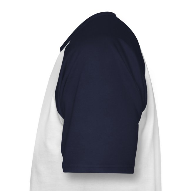Uomo: T-Shirt Bianca/Navy - Logo colori sul retro