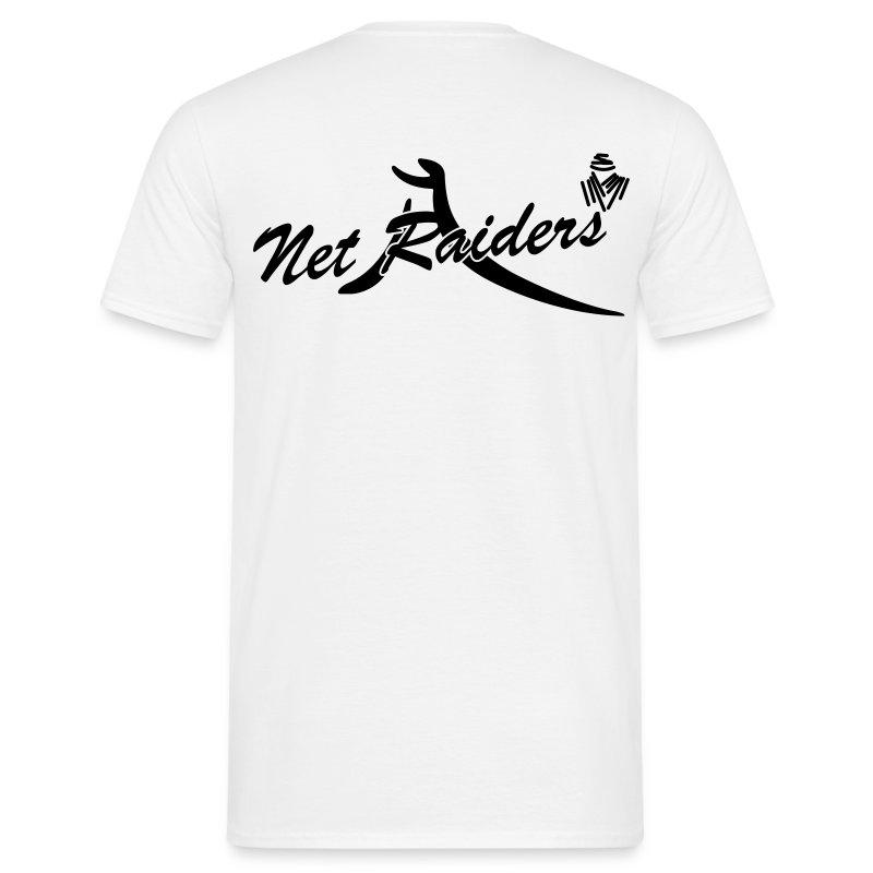 Uomo: T-Shirt Bianca - Logo nero sul retro - Maglietta da uomo