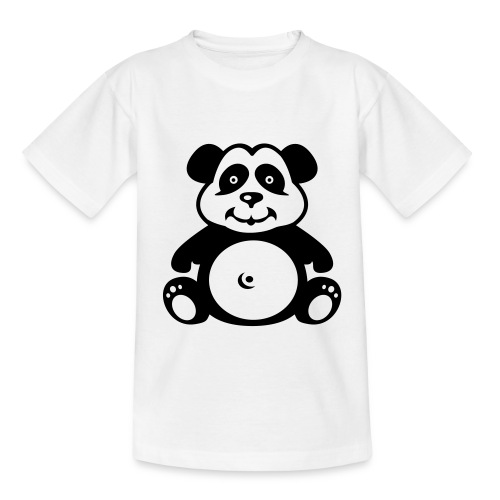 Cute For Kids - Panda (White) - Teenage T-Shirt