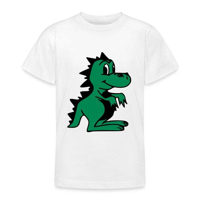 Cute For Kids - Green Dragon (White)