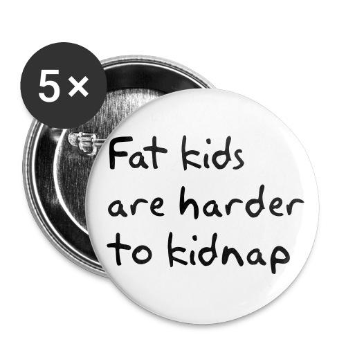 Fat-kids-Button 5Pac - Buttons groß 56 mm (5er Pack)