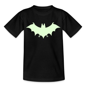 Halloween Glow-In-The-Dark Bat - Teenage T-shirt