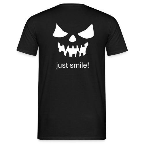 Halloween - smile - Männer T-Shirt