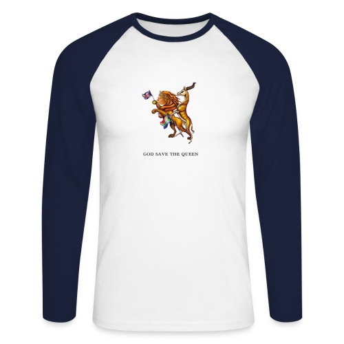 God save the Queen - long sleeve - Men's Long Sleeve Baseball T-Shirt