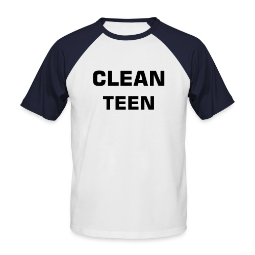 Clean teen t-shirt - Kortermet baseball skjorte for menn