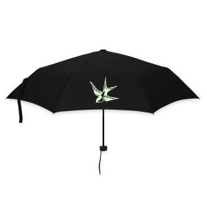 Regenschirm vögel leuchtend - Regenschirm (klein)